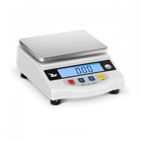 Balanza de precisión - 2000 g / 0,01 g - LCD