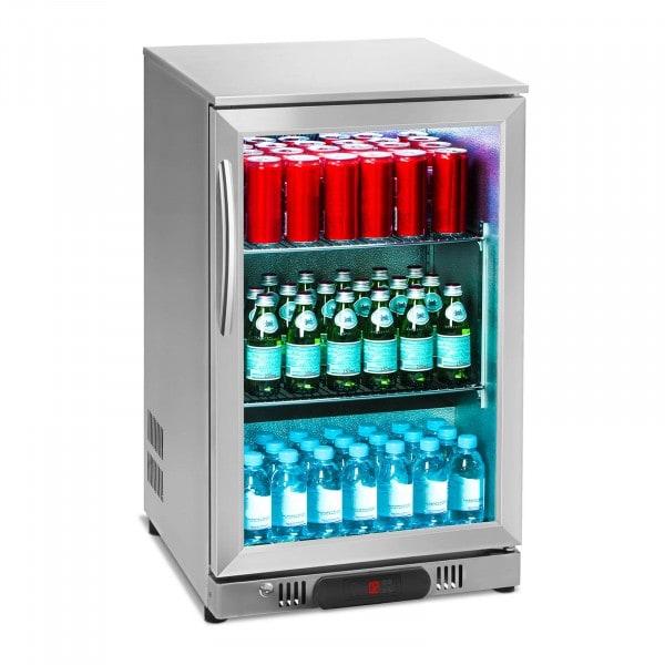 Nevera expositora de bebidas - 108 L - cubierta de acero inoxidable