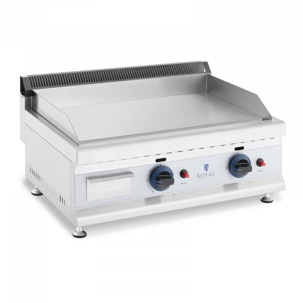 Plancha fry top doble de gas - 60 x 40 cm - lisa - 2 x 3.100 W - propano/butano - 20 mbar