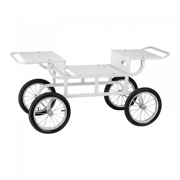 Carrito para máquina de algodón de azúcar - 4 ruedas - blanco