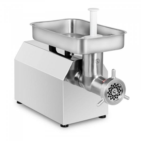 Picadora de carne en acero inoxidable - 480 kg/h - con 3 adaptadores de embutido