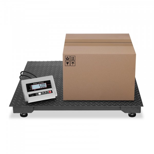 Báscula de suelo - 1.000 kg / 0,5 kg - LCD