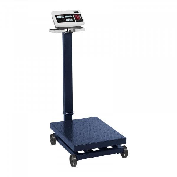 Báscula de plataforma - 600 kg / 100 g - LCD - con ruedas