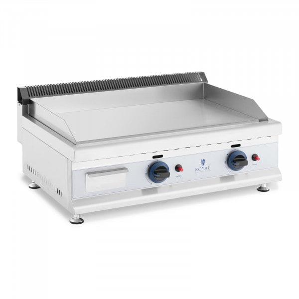 Plancha doble de gas fry top - 74,5 x 40 cm - lisa - 2 x 3.100 W - propano/butano - 20 mbar