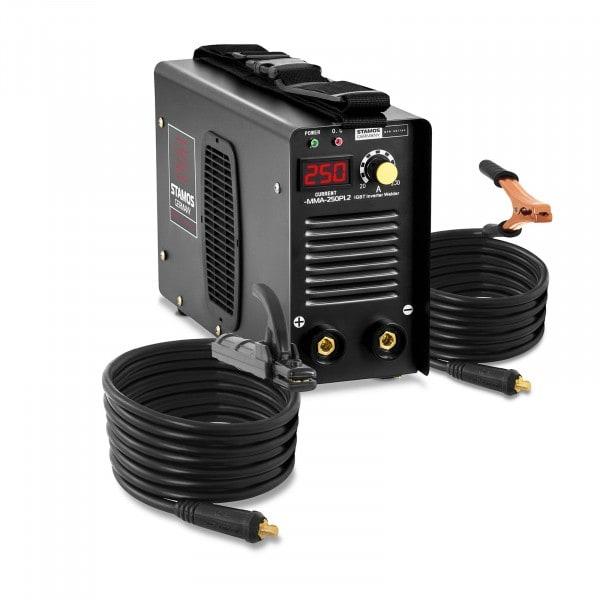 Equipo de soldadura por electrodo MMA - 250 A - cables de 8 m - Hot Start - PRO