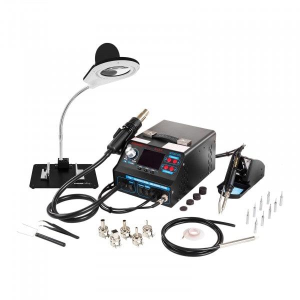 Set estación de soldadura con extractor de humos + accesorios