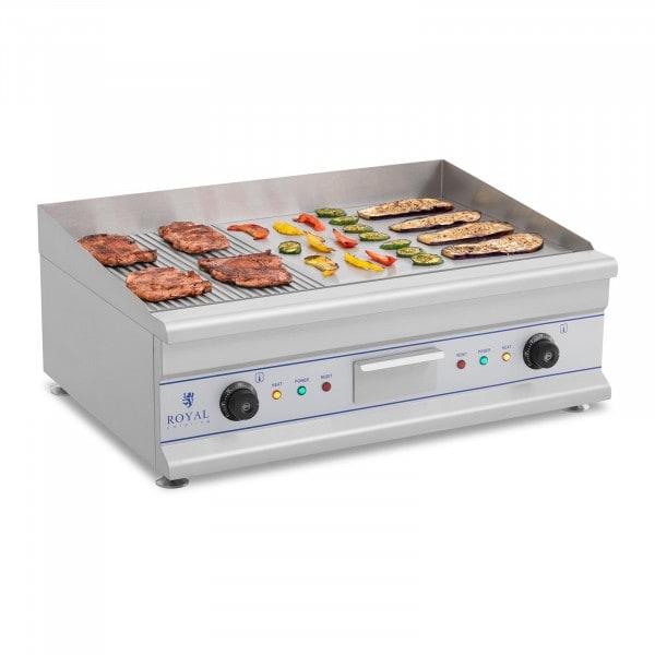 Plancha eléctrica fry-top doble - 75 cm - ondulado - 2 x 3.200 W