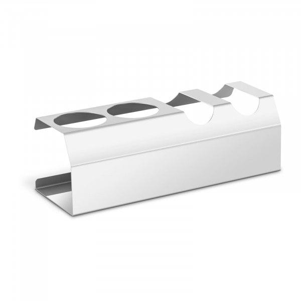 Bandeja hot dog - 2 compartimentos - 2 soportes para salsa - acero inoxidable