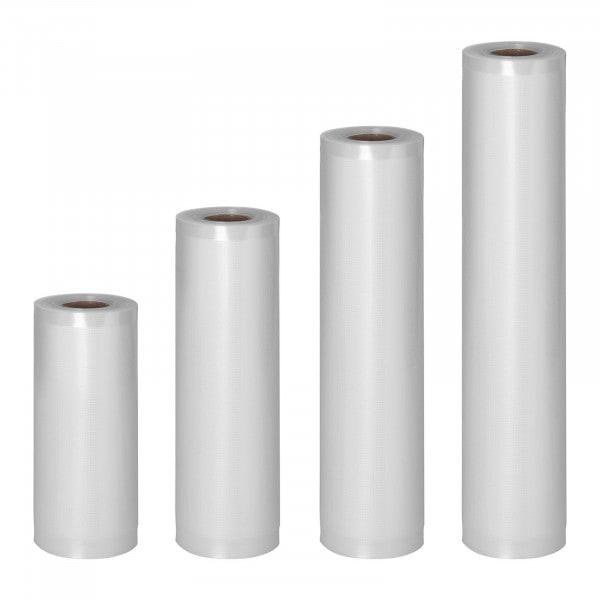 Rollos para envasar al vacío - 4 Rollos - 24 m - 15 - 30 cm