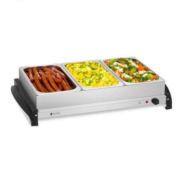 Calienta platos para buffet - 3 x 2 litros - 400 W