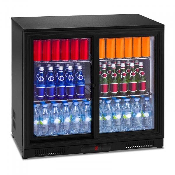 Nevera expositora de bebidas - 208 L - interior de aluminio