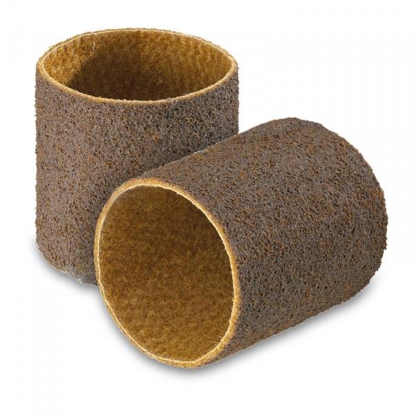 2 cintas abrasivas - vellón de nylon - grano grueso