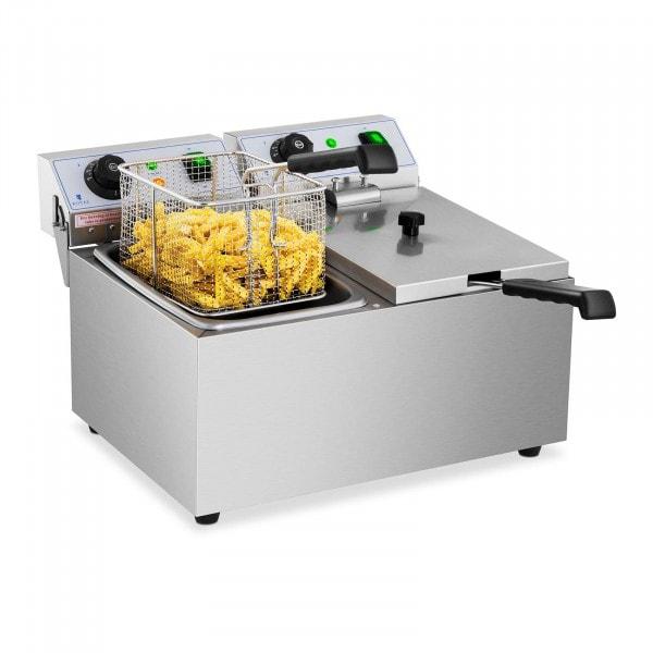 Freidora eléctrica - 2 x 8 litros - 230 V