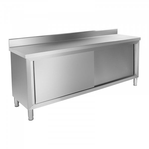 Mueble neutro de acero inoxidable - 200 x 60 cm - antisalpique