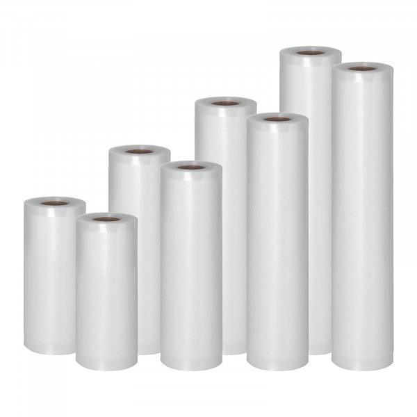 Rollos para envasar al vacío - 8 Rollos - 48 m - 15 - 30 cm