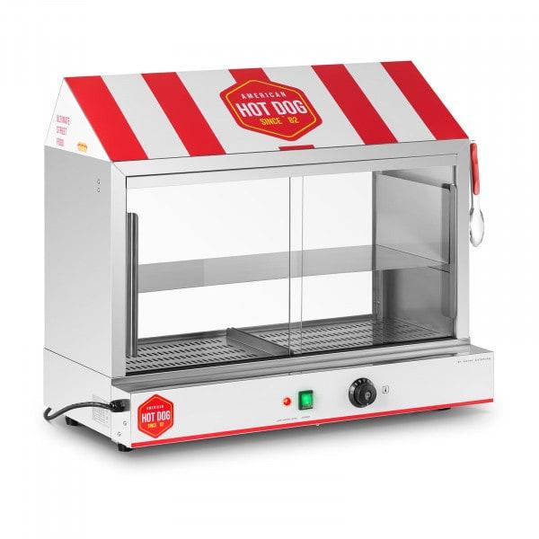 Máquina de perritos calientes - 300 salchichas - 100 panecillos - 2.400 W