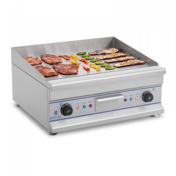 Plancha eléctrica fry-top doble - 60 cm - liso - 2 x 3.200 W