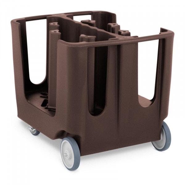 Carro portaplatos - máx. 300 platos - Ø 12 - 33 cm - 6 compartimentos ajustables