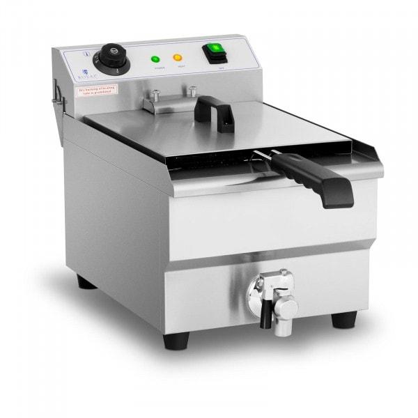 Freidora eléctrica - 13 litros - 3.200 watt - grifo de vaciado - zona fría