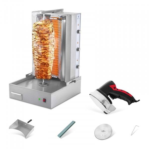 Asador de kebab con cuchillo eléctrico - set