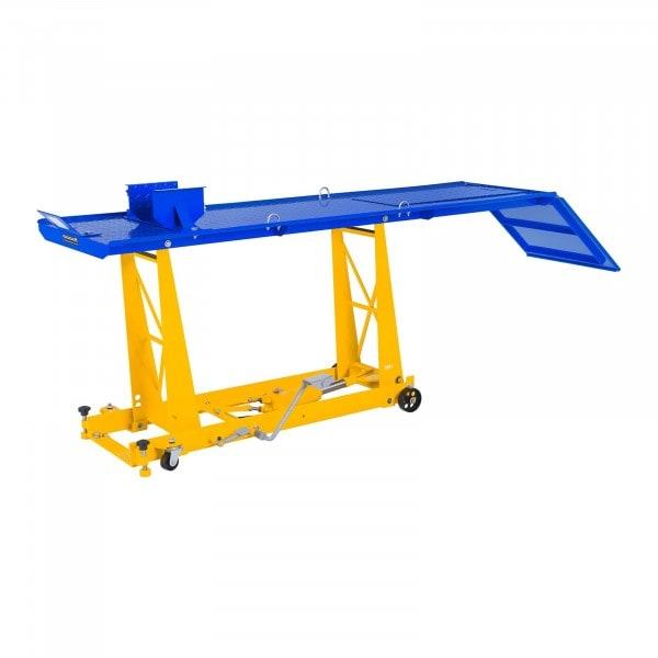Elevador hidráulico para motos con rampa - 450 kg - 220 x 68 cm
