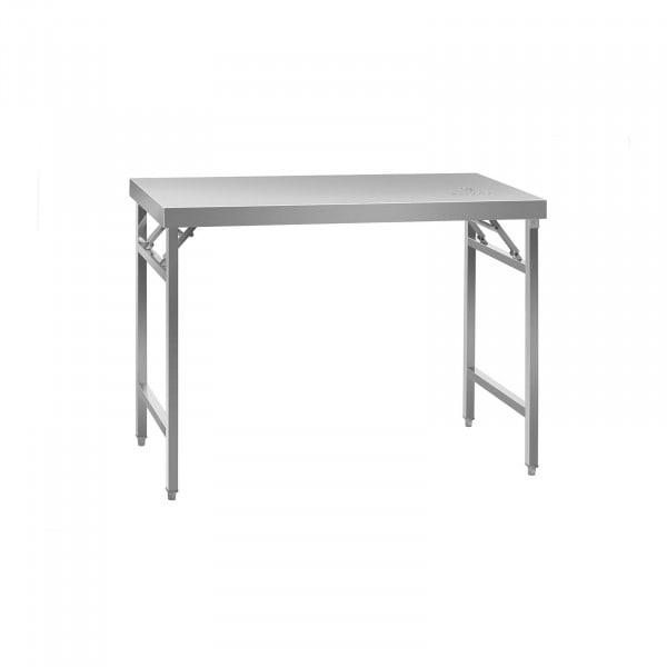 Mesa de trabajo plegable - acero inoxidable - 120 x 60 cm