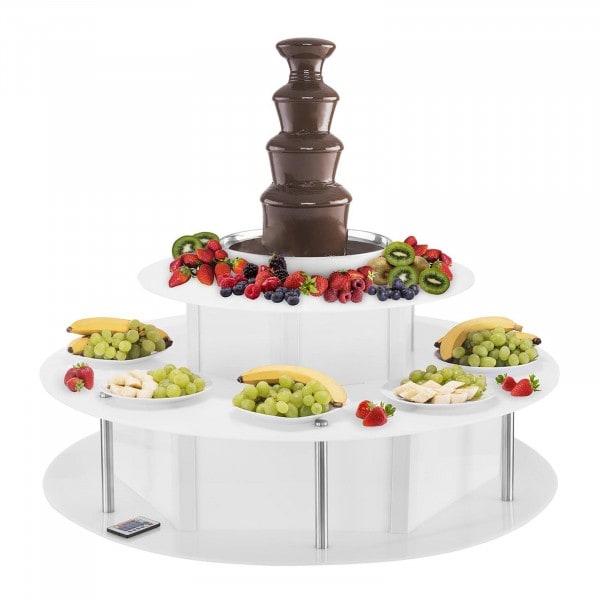 Set de Fuente de chocolate - 4 niveles- 6 kg - con mesa esa luminosa
