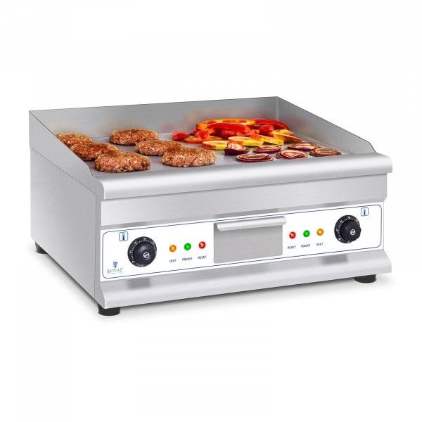 Fry top eléctrico doble - 60 cm - liso - 2 × 3.200 W