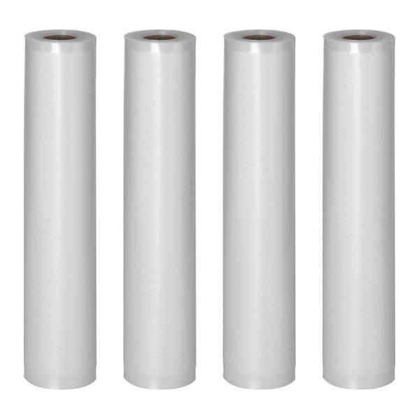 Bolsas de envasado al vacío - 4 rollos - 24 m - 30 cm