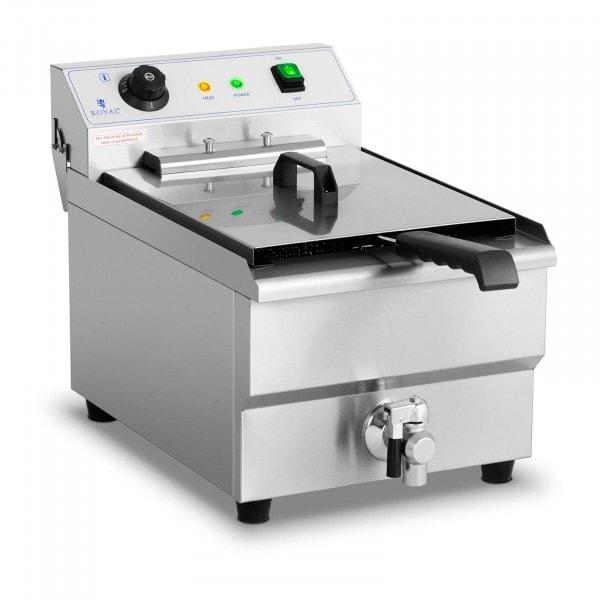 Freidora eléctrica - 16 litros - 6.000 W - grifo de vaciado - zona fría