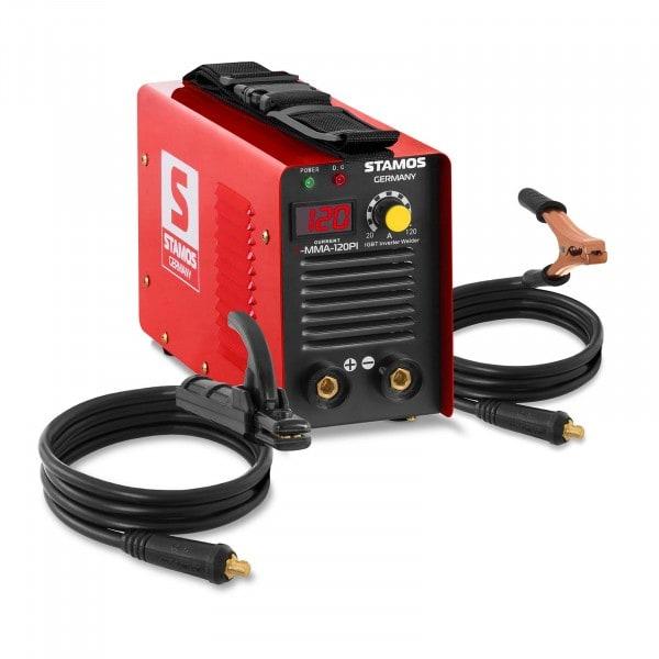 Equipo de soldadura por electrodo MMA - 120 A - Hot Start - Pantalla LED