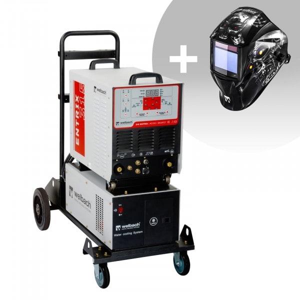 Set de soldadura Soldador de aluminio - 315 A - 400 V - Pulso - refrigerador por agua + Careta de soldar – Metalator– EXPERT SERIES