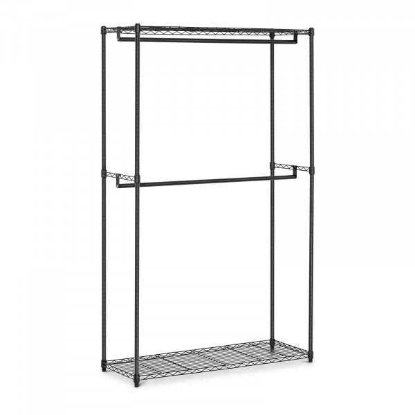 Estructura de metal para ropa - 120 x 45 x 199,5 cm - 200 kg - negra