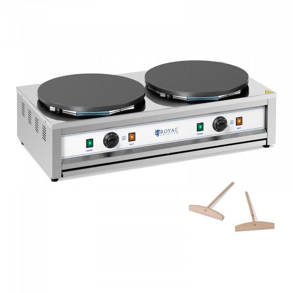 Crepera - 2 placas de cocción - 2 x 400 mm - 2 x 3.000 W