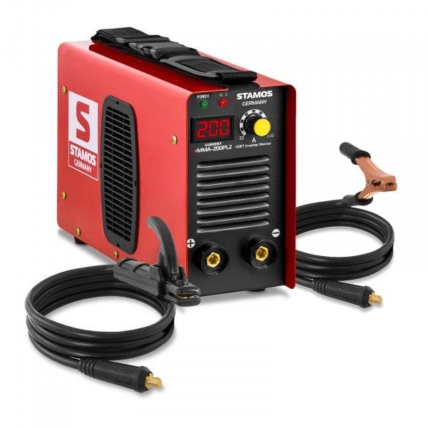 Equipo de soldadura por electrodo MMA - 200 A - Hot Start - Pantalla LED