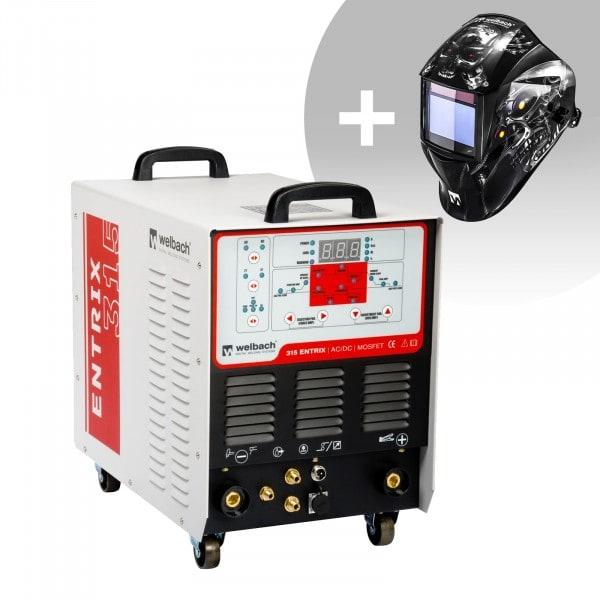 Set de soldadura Soldador de aluminio - Welbach - 315 A - 400 V - Pulso - digital - 2/4 Tiempos + Careta de soldar – Metalator– EXPERT SERIES