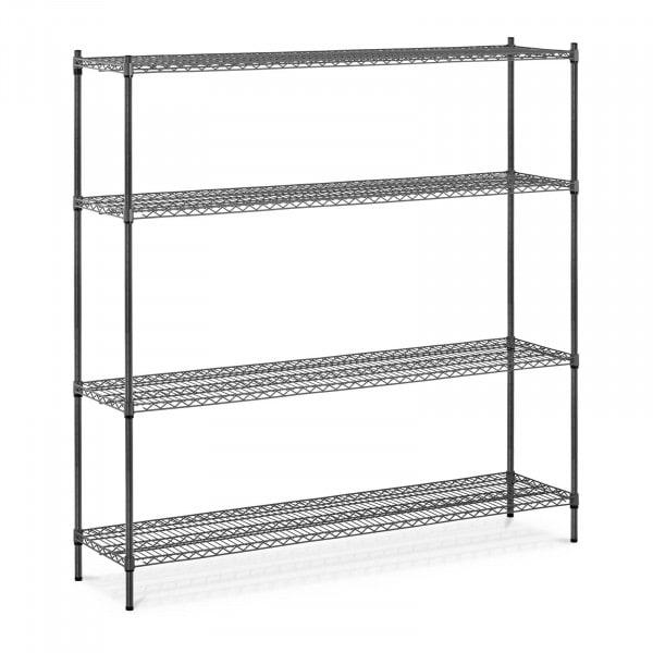 Estantería de metal - 180 x 45 x 180 cm - 1.000 kg - gris