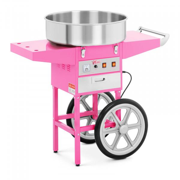 Máquina de algodón de azúcar con carrito - 52 cm