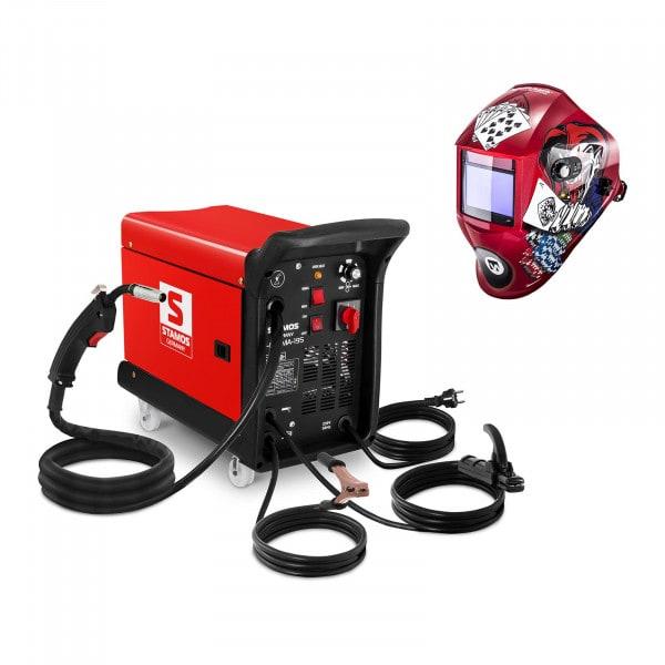 Set de soldadura Máquina de soldar multiproceso- 195 A - 230 V - portátil + Careta de soldar – Pokerface – PROFESSIONAL SERIES