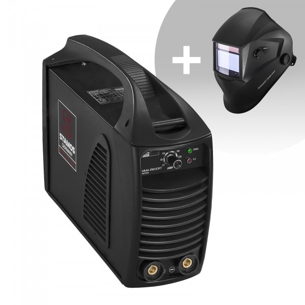 Set de soldadura Equipo de soldadura MMA - 250 A - Hot Start - IGBT + Careta de soldar – Blaster – ADVANCED SERIES