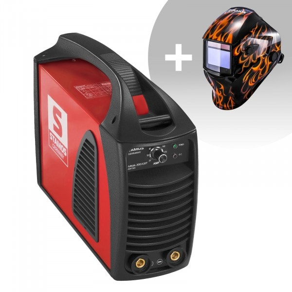 Set de soldadura Equipo de soldadura MMA - 200 A - Hot Start - IGBT + Careta de soldar – Firestarter 500 – ADVANCED SERIES