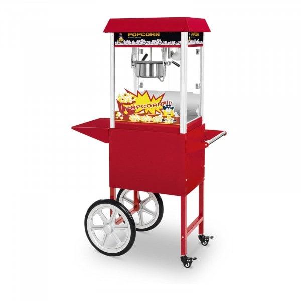 Palomitera con carrito - 1495 W - diseño retro - rojo