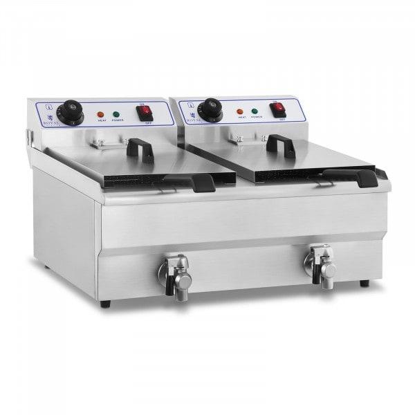 Freidora eléctrica - 2 x 16 litros - 230 V
