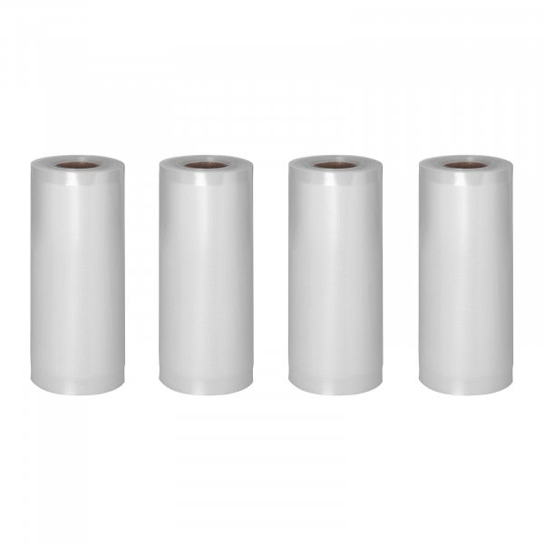 Bolsas de envasado al vacío - 4 rollos - 24 m - 20 cm