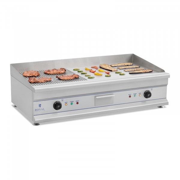 Fry top eléctrico doble - 100 cm - liso - 2 x 3.200 W