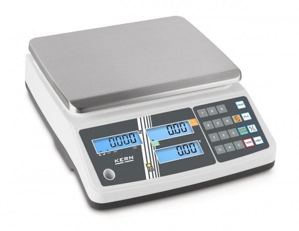 KERN Balanza comercial - 6 kg /2g-blanca-LCD