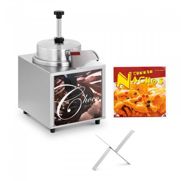 Dispensador de salsas - queso para nachos - chocolate - 4,5 l