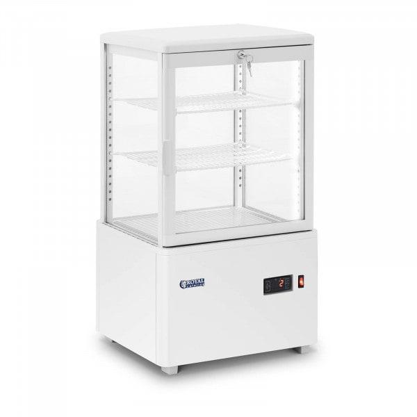 Vitrina refrigerada - 58 L - 3 niveles - blanca - con cerradura