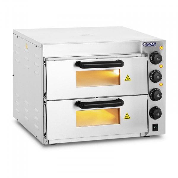 Horno para pizza - 2 compartimientos - Suelo de arcilla refractaria