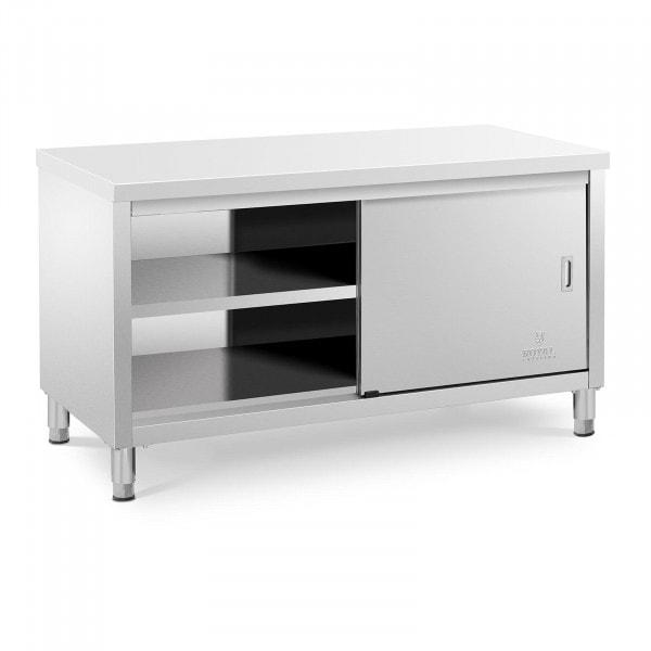 Mueble neutro en acero inoxidable - 150 x 70 x 85 cm - 600 kg de capacidad de carga